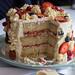 Birthday cake innards shot