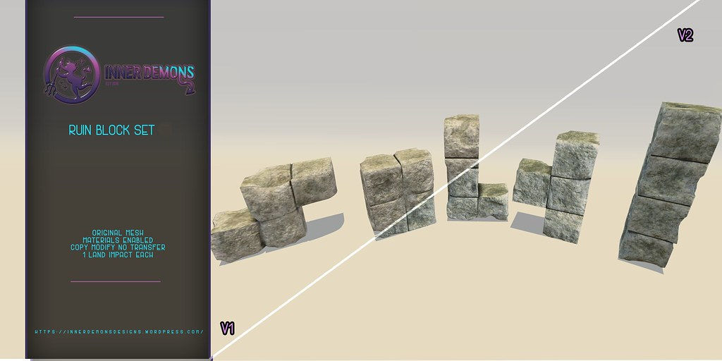 {ID} Ruin Block Set V1 & V2 - TeleportHub.com Live!