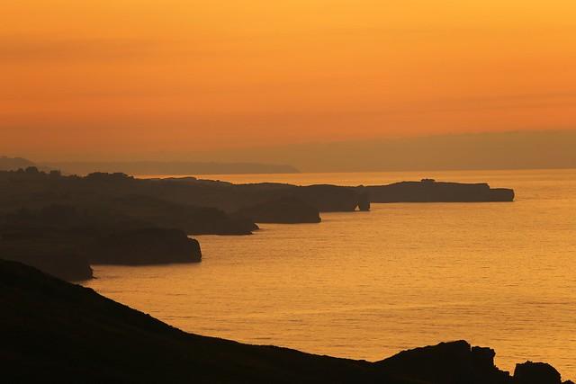 Torimbia Coast at Sunset
