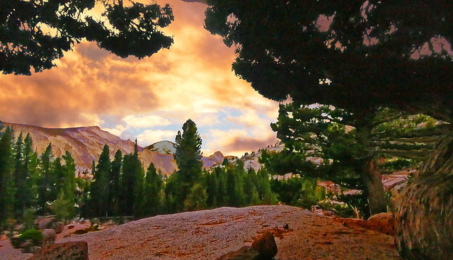 PATAGONIA - Sunset in mountains