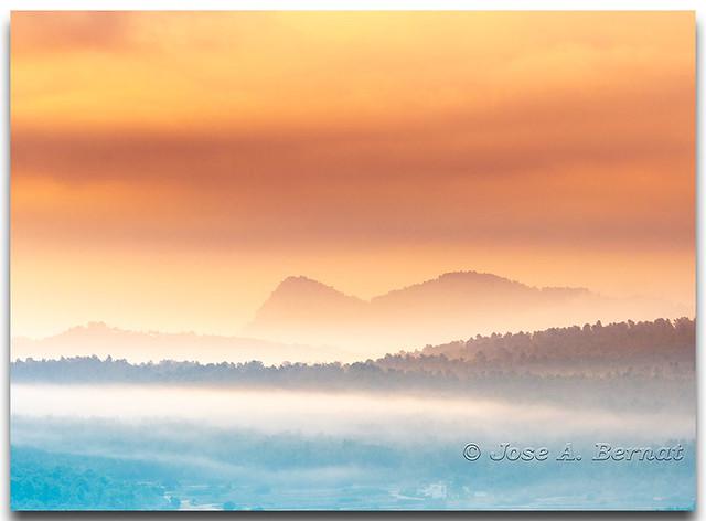 Parque natural de la sierra Mariola en Bocairent, (Comunidad Valenciana), España.