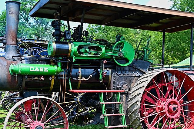 Case Steam Tractor at Georgetown Engine Show