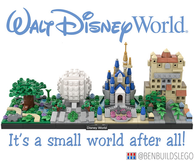 Lego Disney World Skyline