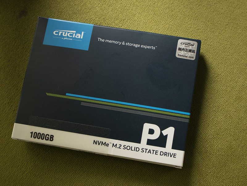 PCIe/NVMe SSD を買う、QLC NANDだけど。:Crucial P1