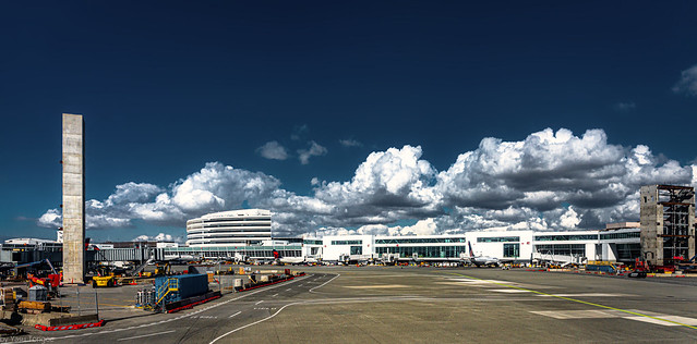 Beautiful clouds over SeaTac airport, Seattle, USA-1a