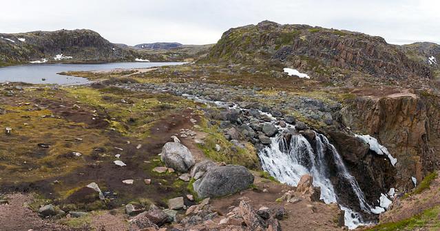 Teriberka. Waterfall