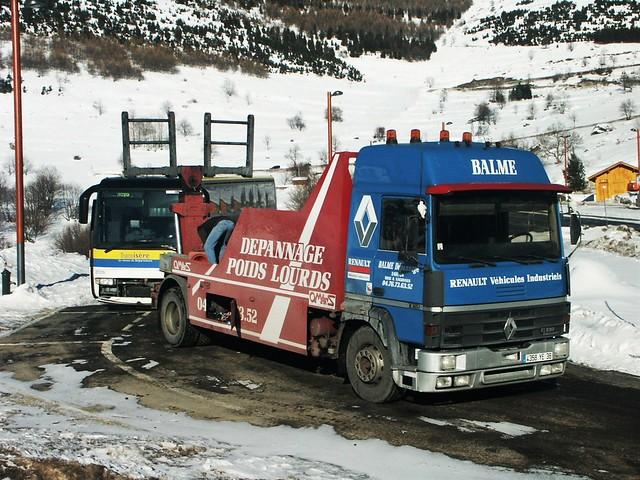 Renault R365 Dépannage Balme + Renault Iliade VFD  2026 Alpe d'Huez (38 Isère) 03-01-05a