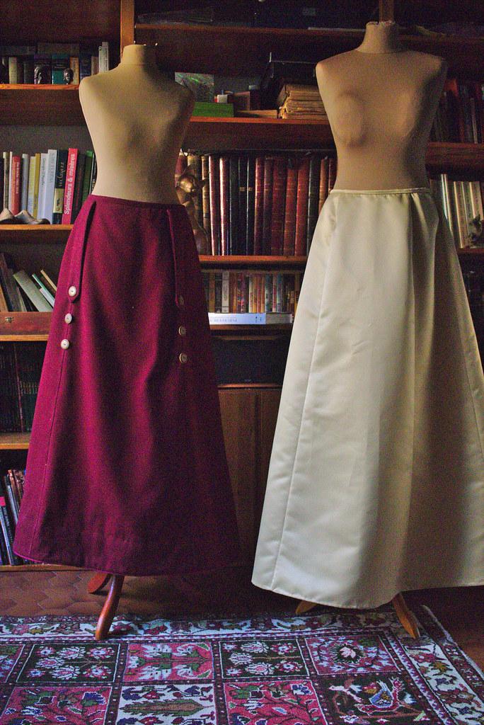 Comparaison ampleur jupes Belle Epoque