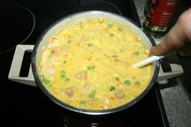 40 - Verrühren & Käse schmelzen lassen / Stir & let cheese melt