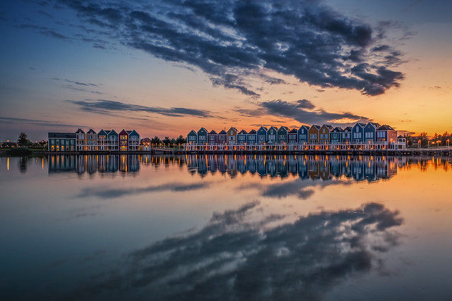 Rainbow houses of Houten