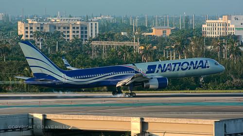fortlauderdale fll kfll nationalairlines n8 cargo n567ca 757200 757223 n650aa