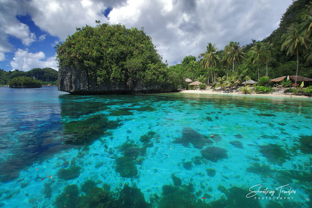 crystal-clear waters along the northeastern beach of Pangabangan Island