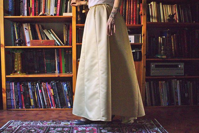 Patronner une jupe avec peu de tissu