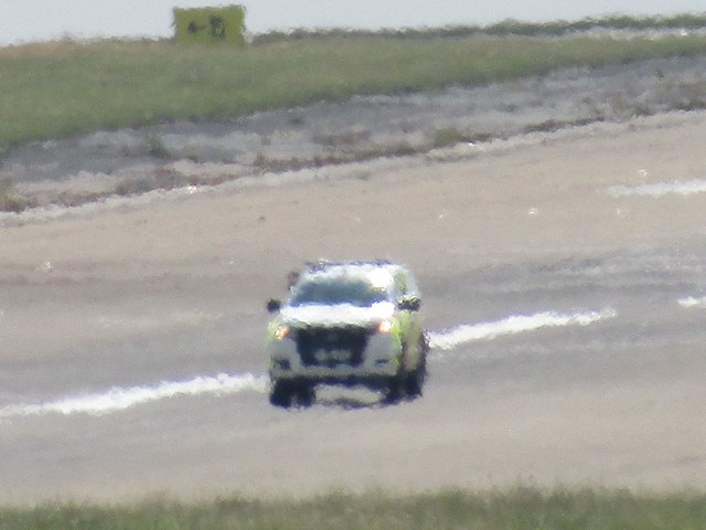 Hot Runway Inspection At Leeds/Bradford Airport. Fire Ops Ford Ranger.