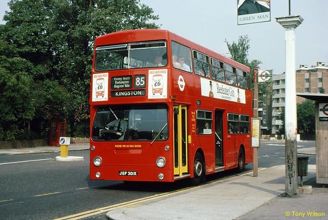 JGF301K London Buses DMS301