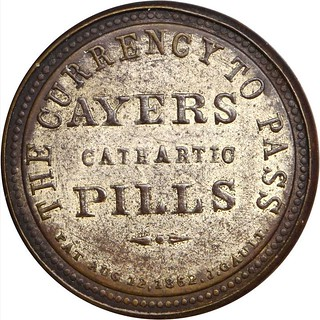 Ayer's Cathartic Pills. Three Cents revrse