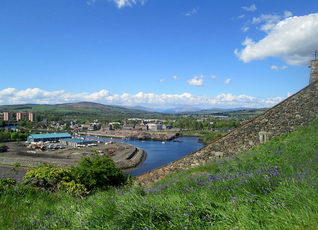 View of River Leven and Dumbarton From Dumbarton Rock
