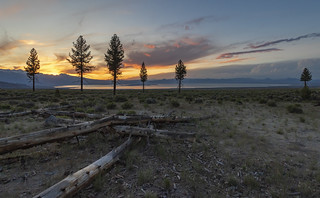 Remains of the day -- Mono Lake at sunset