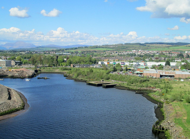 River Leven and Dumbarton from Dumbarton Rock