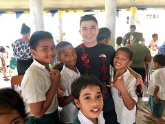 Walnut visits Lufilufi Primary School in Samoa