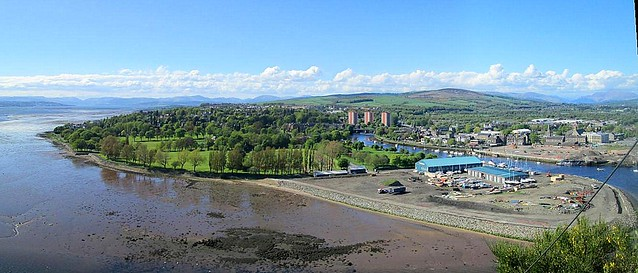 Rivers Leven and Clyde at Dumbarton