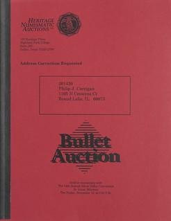 Heritage Auction bullet sale November 1993