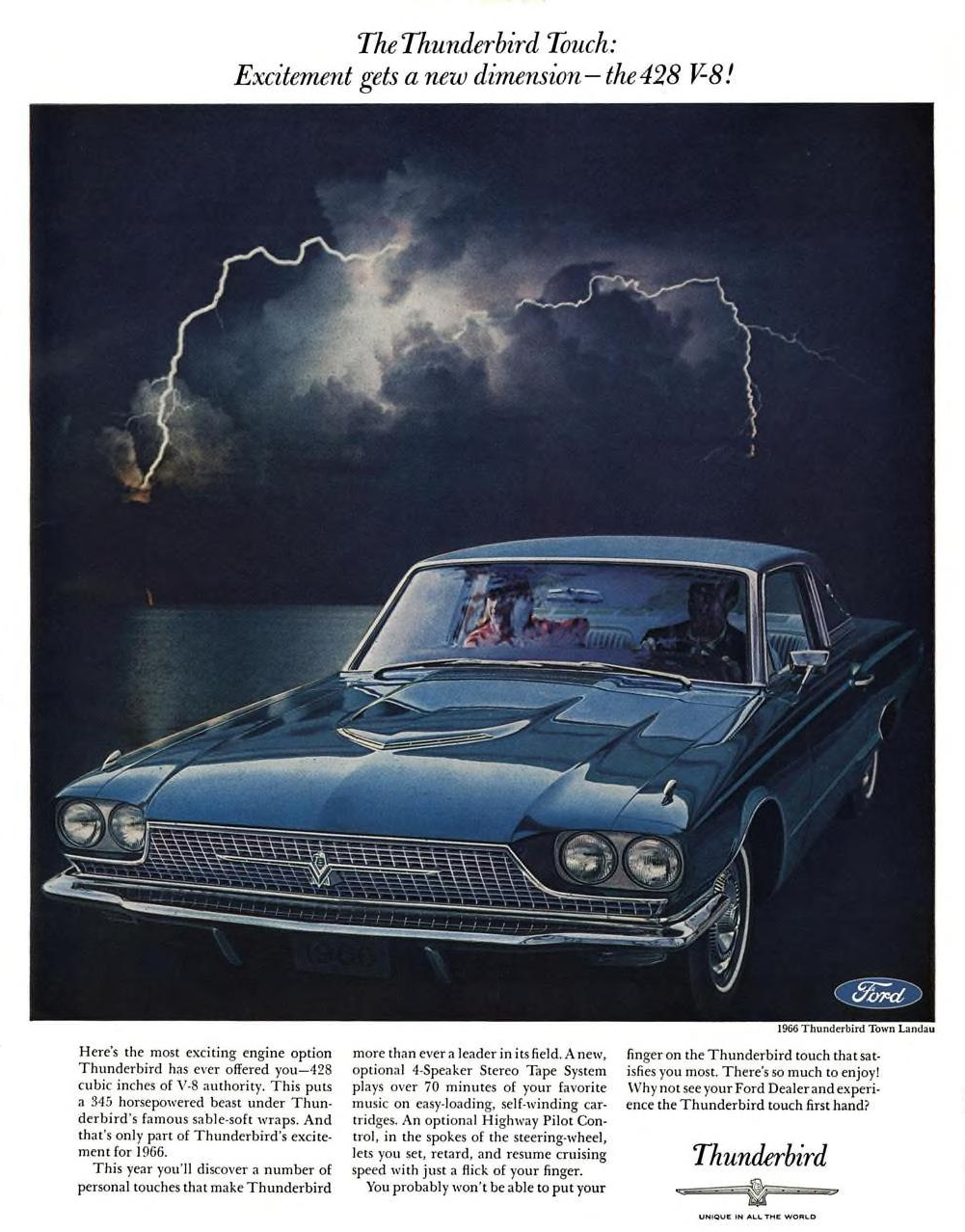 1966 Ford Thunderbird Town Landau - published in Esquire - March 1966