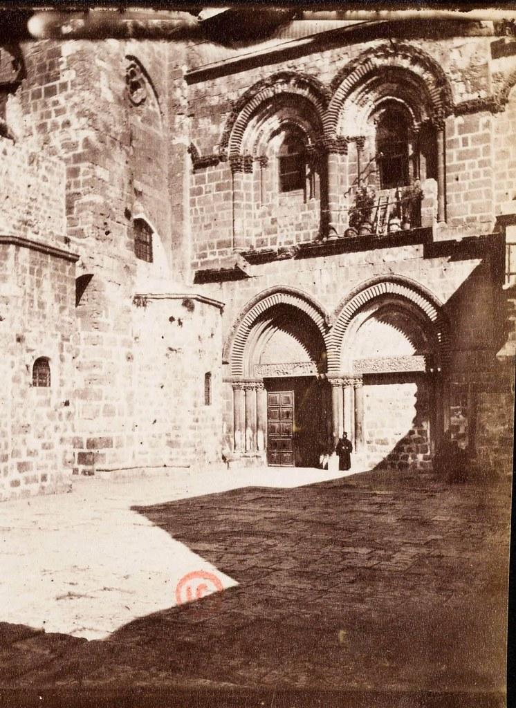 29. Иерусалим. Виа Долороза.  Фасад Гроба Господня