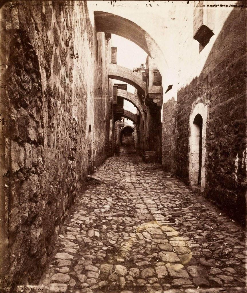 22. Иерусалим. Виа Долороса. Между  5 и 6 остановками