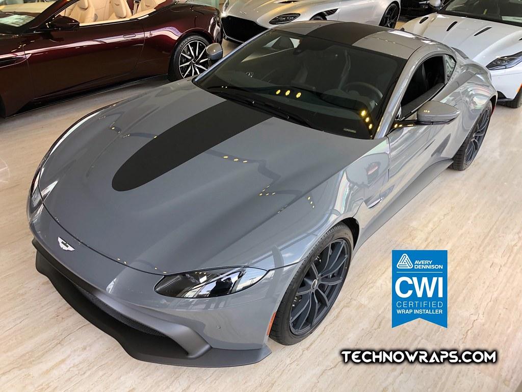 Aston Martin Vantage 3m Matte Black Vinyl Car Stripe Orlando A