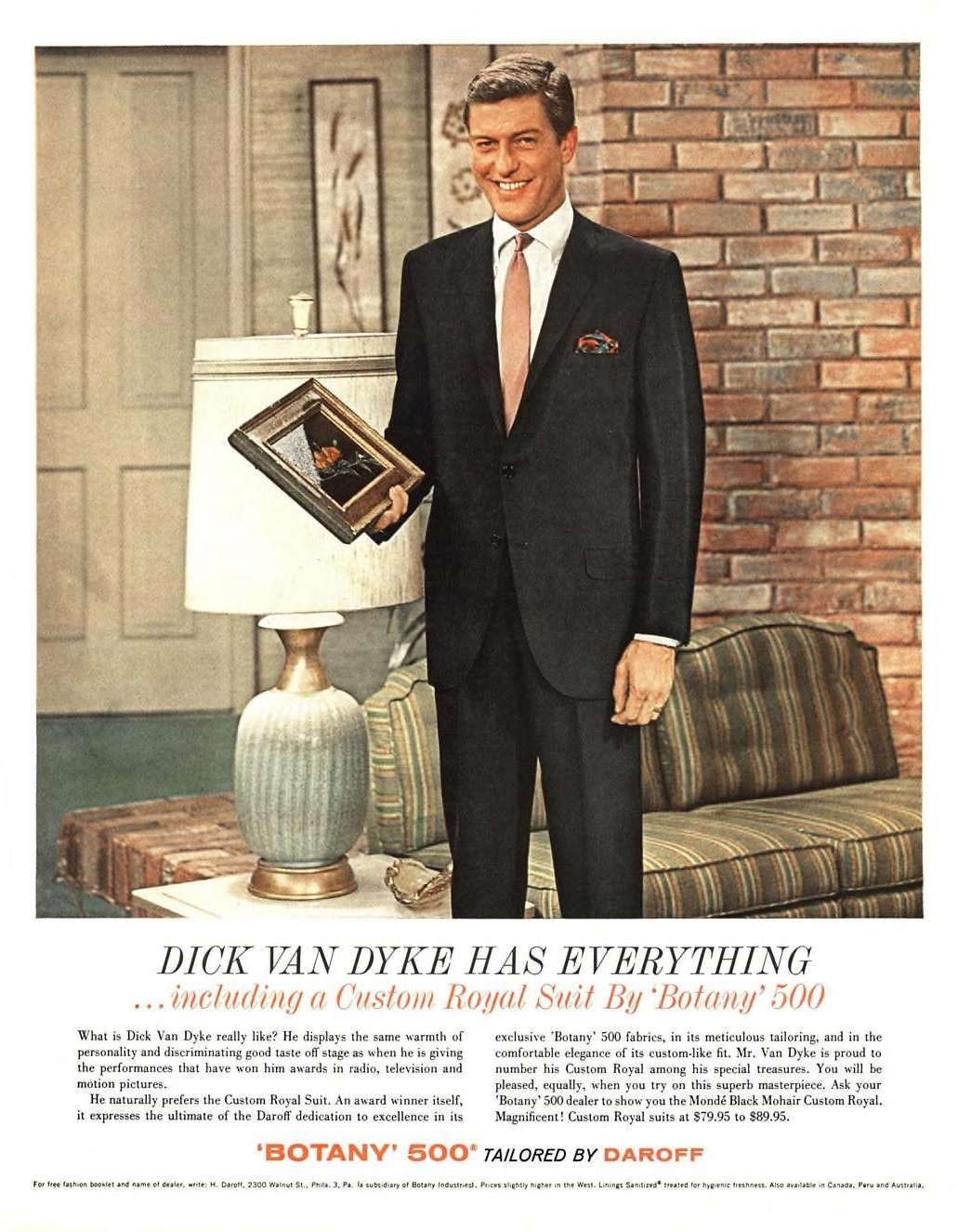 Botany 500 featuring Dick Van Dyke - published in Esquire - March 1966