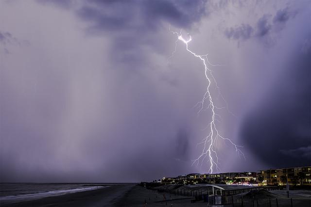 Thunderstorm over Tybee Island