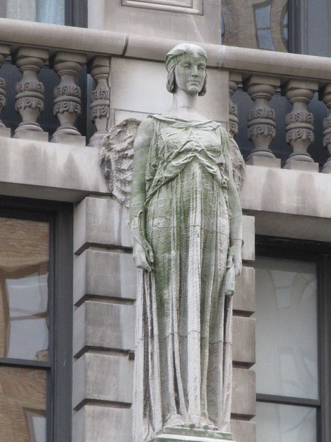 2019 Free Standing Female Statue Holding a Quill Pen and Rolled Paper 7169