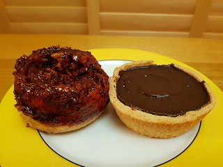 Sticky Bun and Chocolate Custard Tart from The Pick Up Joint