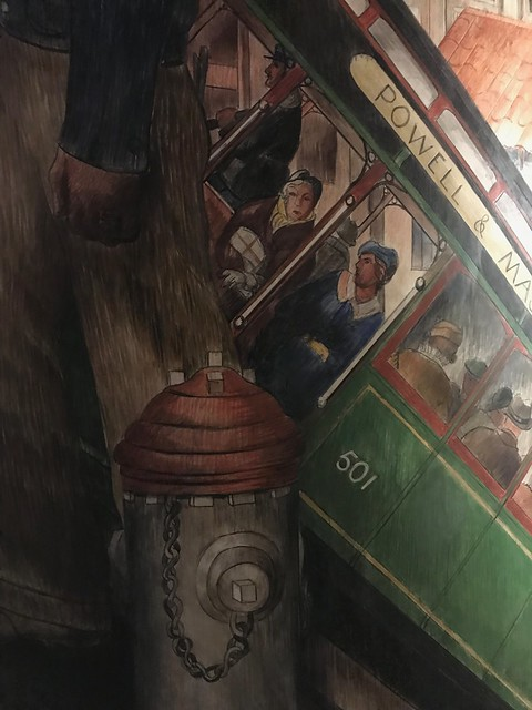 Coit Tower Murals, 2nd floor