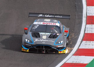 New Aston Martin Vantage DTM car at Brands Hatch
