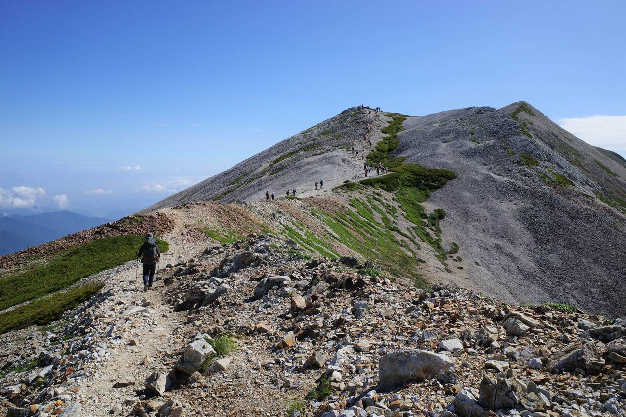 白馬岳稜線と小蓮華山