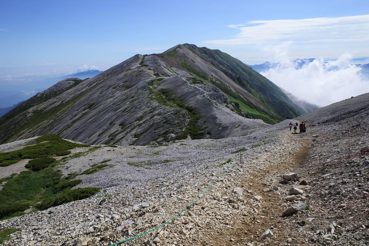 白馬岳 稜線登山