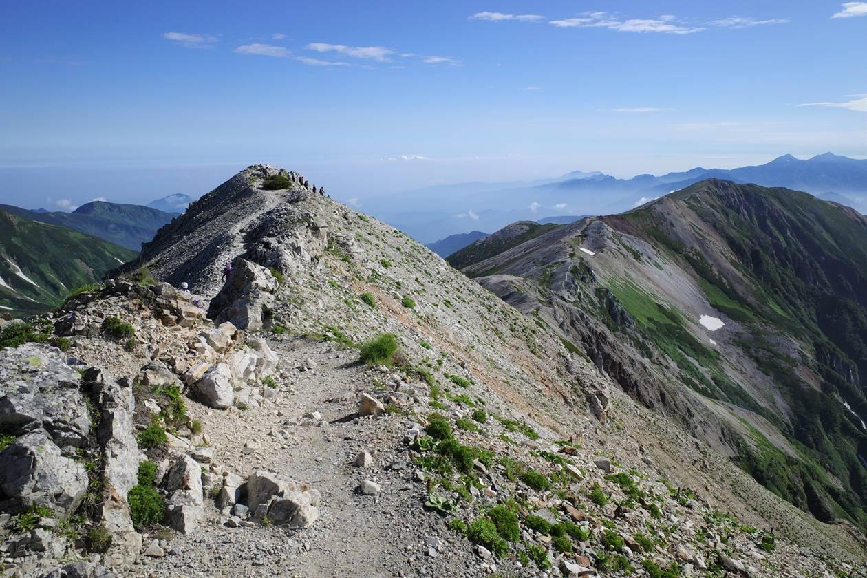 白馬岳の稜線ハイク