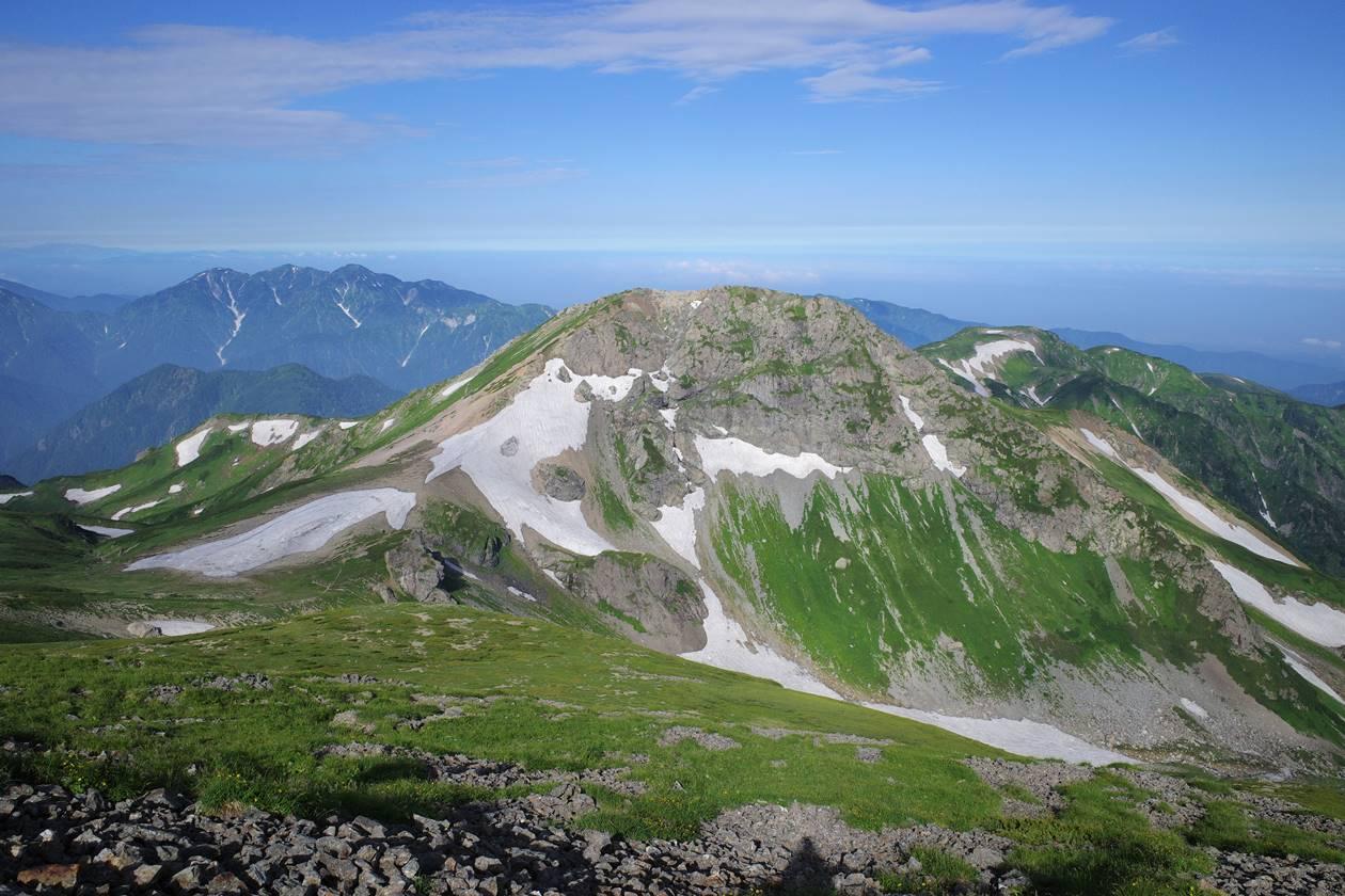 白馬旭岳と毛勝三山