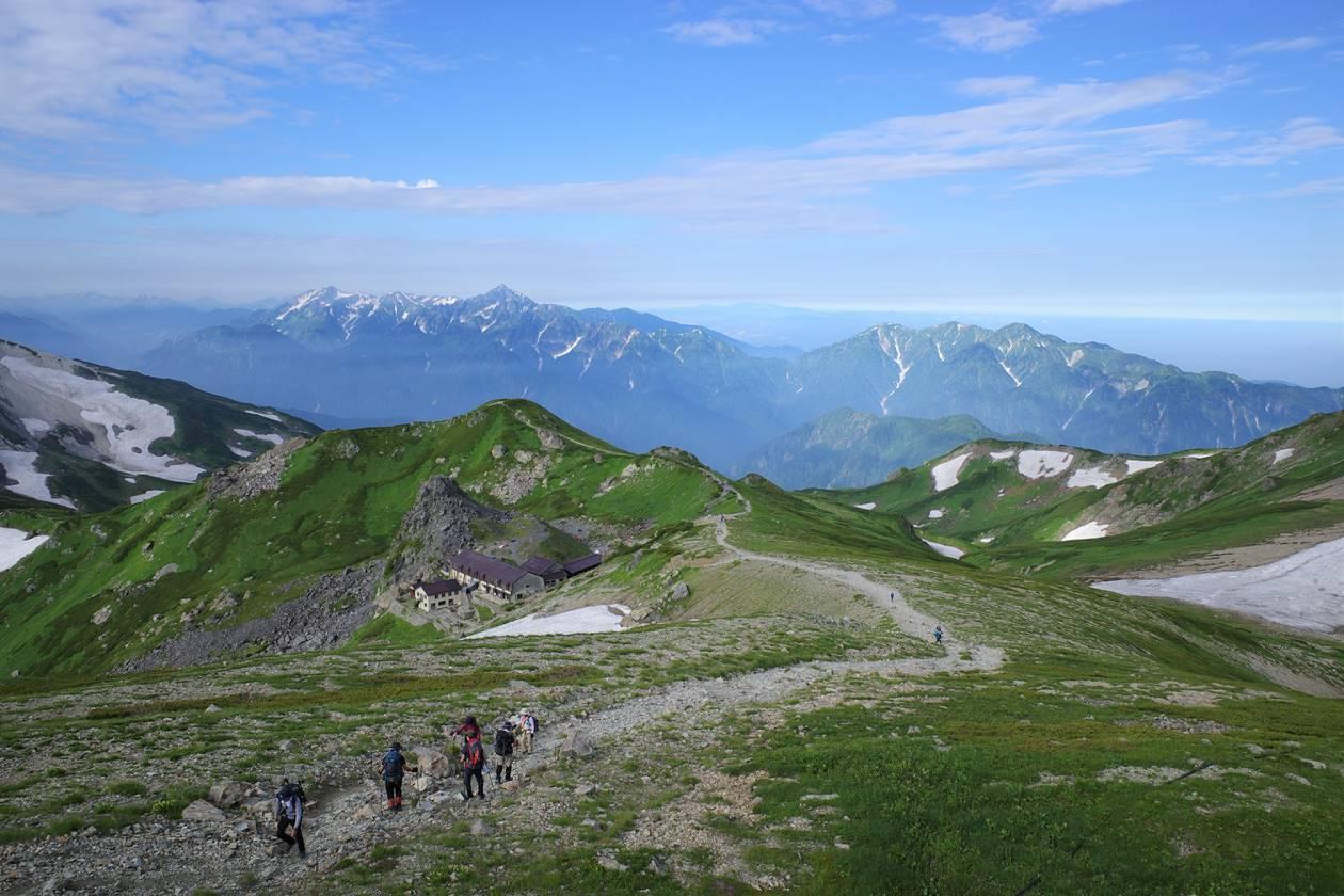 白馬岳から眺める立山・剱岳