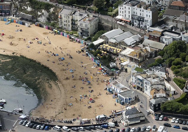 Broadstairs Viking Bay - aerial image