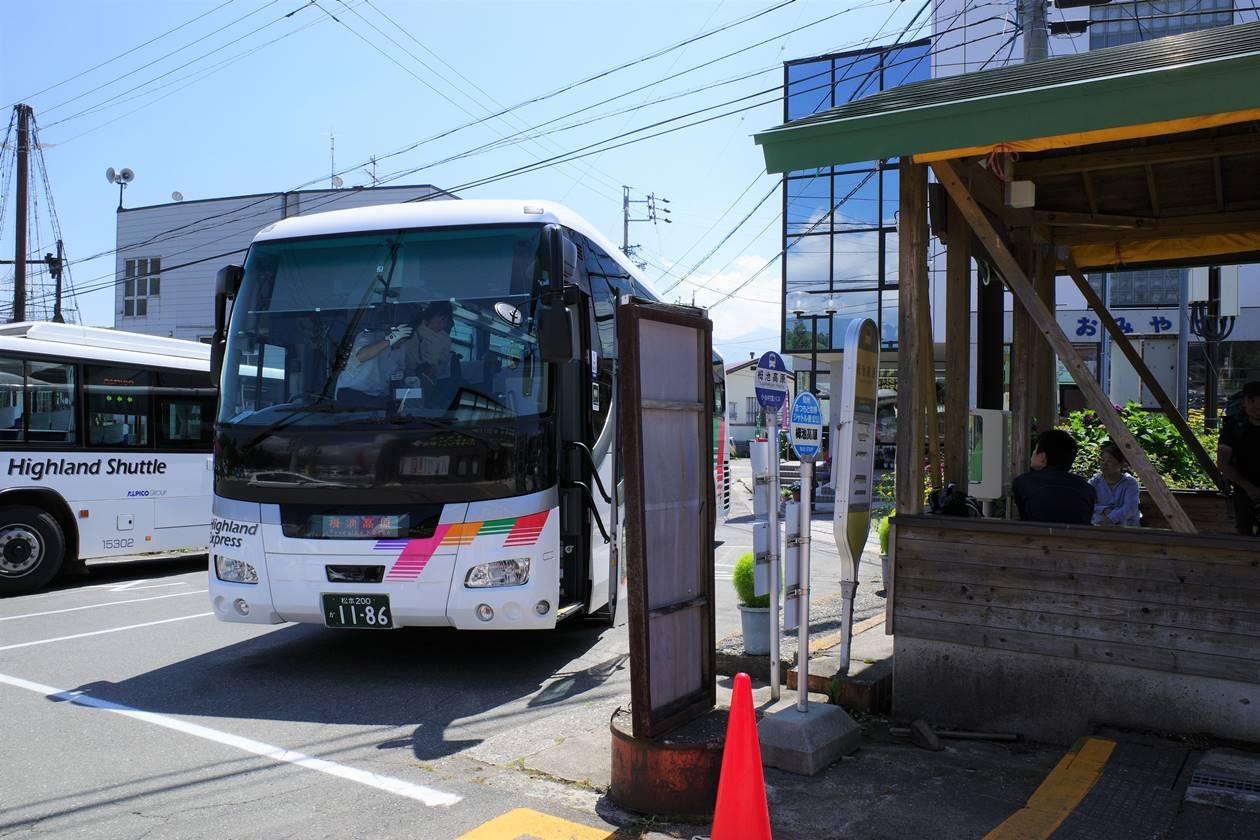 栂池高原~長野駅行きバス