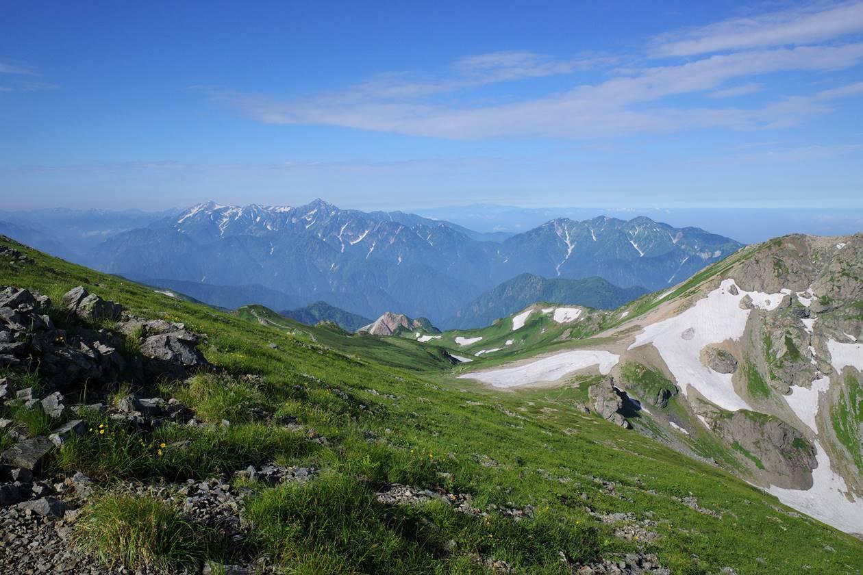 白馬岳から望む立山・剱岳
