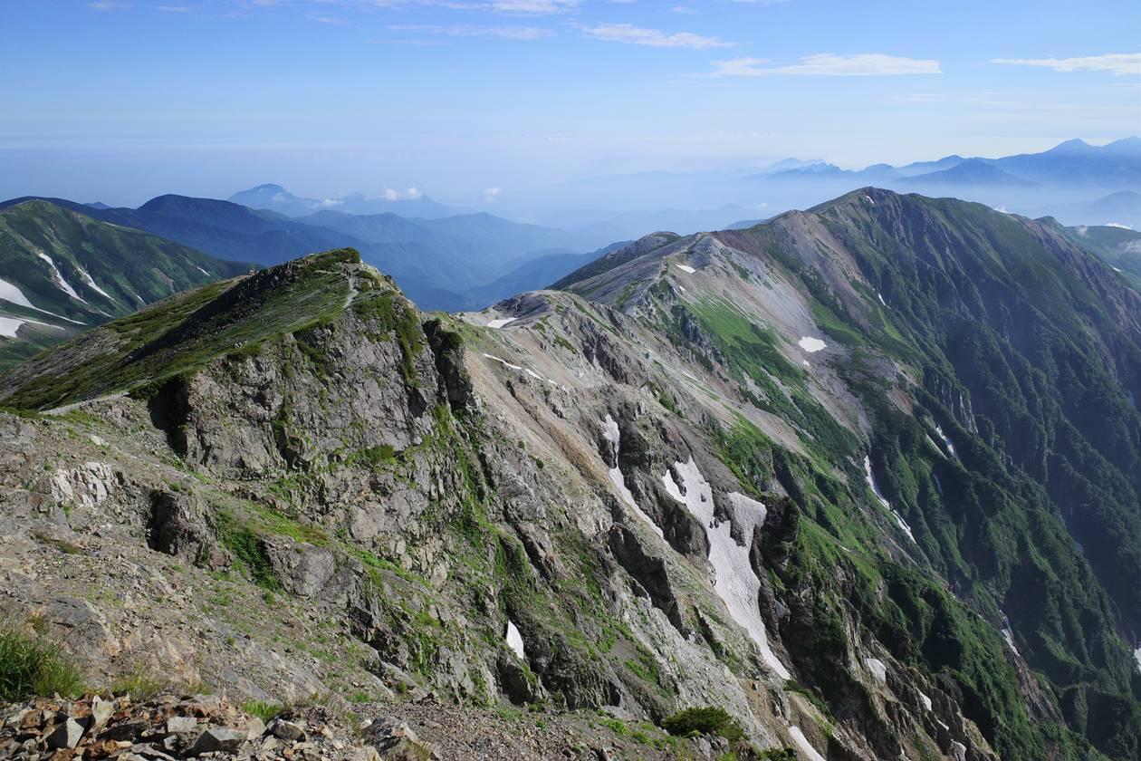 白馬岳の稜線