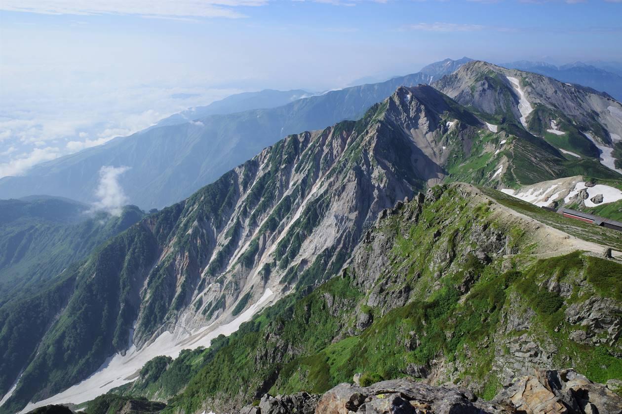 白馬岳・杓子岳の断崖絶壁