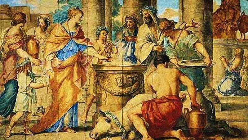 Ritual kurban hewan masa Yunani kuno.