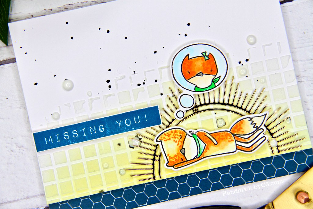 Altenew masculine card #4 closeup
