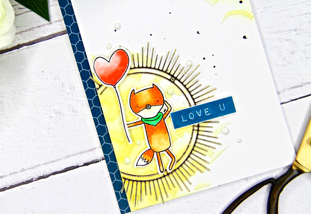 Altenew masculine card #2 closeup