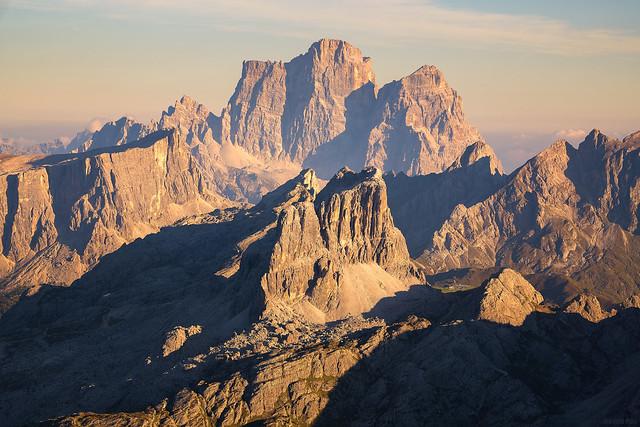 Monte Pelmo Behind Rifugio Nuvolau